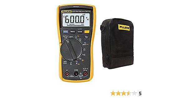 Fluke 117 True Rms Digital Multimeter W C115 Tragetasche Und Messleitungen Baumarkt
