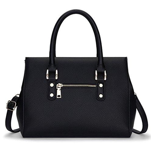 fanhappygo Fashion Retro Leder Damen elegant Quaste taschen Schulterbeutel Umhängetaschen Abendtaschen schwarz