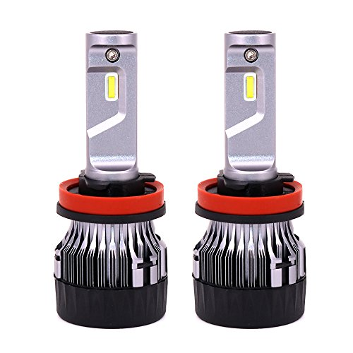 H8/H9/H11 Led Ampoules de Phare 10000LM 60W 6500K Blanc avec CREE Chips Diesel Auto Zone Fan Amovible Kit de Conversion d'ampoules, remplacement pour 12v 55w ampoules halogènes - 1 An de Garantie