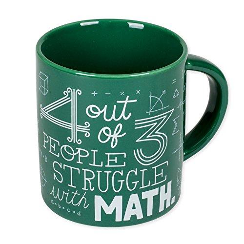 4von 3Personen Kampf mit Mathematik grün 12Unze Keramik Kaffee Tasse