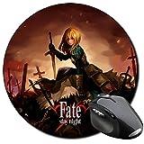 Fate Stay Night Saber Tappetino Per Mouse tonda Round Mousepad PC