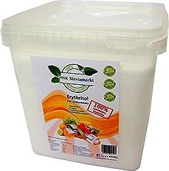 HNK STEVIAMARKT Erythritol -Erythrit Zuckerersatz Low Carb BOX-Die gesunde Zuckeralternative -Kalorienfrei, Zahnfreundlich, Geschmacksneutral -1er Pack (1 x 4,5 kg)