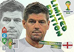 Panini Adrenalyn XL FIFA World Cup 2014 Brazil Steven Gerrard (Portrait picture) Limited Edition by Panini