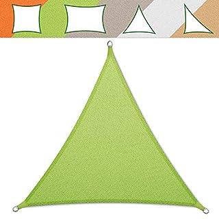 casa pura® Sonnensegel wasserabweisend imprägniert   Testnote 1.4   Dreieck gleichseitig   UV Schutz Größen (hellgrün, 5x5x5m)