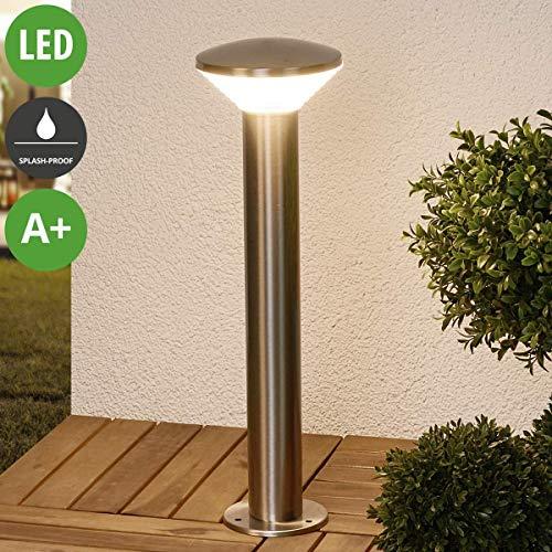 Lampada led da esterni 'tiga' (moderno) colore grigio, in acciaio inox (1 luce, a+, lampadina inclusa) di lampenwelt | lampioncino, paletto luminoso, lampada da viale, lampione