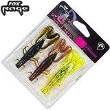 Fox Rage Critter mixed Colour Pack - 3 Gummikrebse zum Spinnfischen auf Barsche & Zander,...