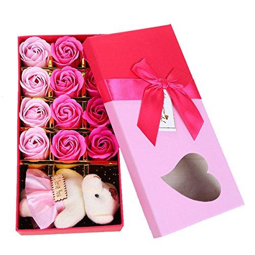 Butterme Pack von 12 romantischen Duft Rose Seife Blume mit