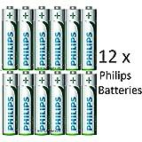12x Philips longue durée de vie Batterie Mignon AA R61,5V–r6l12tf/10