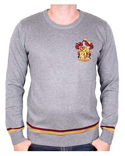 Harry Potter Gryffindor Pullover grau für Erwachsene Harry Potter Fans - Gryffindor Kostüm Pullover
