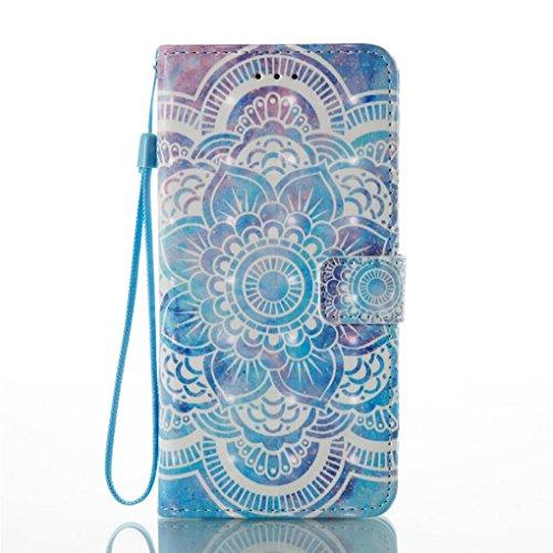 iPhone 7 Plus / 8 Plus Hülle, SATURCASE Schönes 3D Muster PU Lederhülle Ledertasche Magnetverschluss Flip Cover Brieftasche Case Handy Tasche Schutzhülle Handyhülle Hülle mit Standfunktion Kartenfäche Muster-4