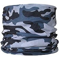 Braga para el cuello, pañuelo de microfibra multifunción, diseño de gris camuflaje urbano