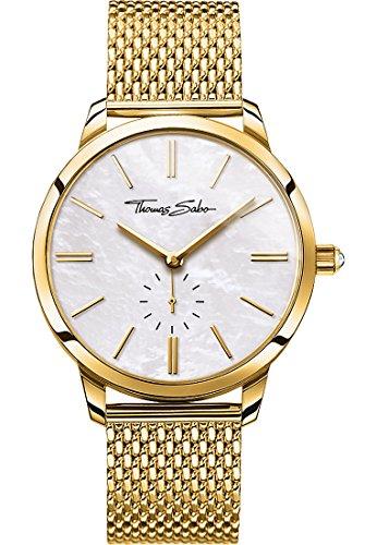 Thomas Sabo Reloj para mujer Glam Spirit Oro amarillo y nácar WA0302-264-213-33 mm