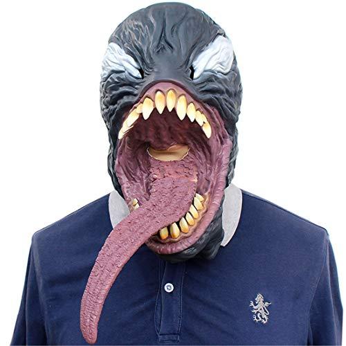 Die Avengers Venom Kopfgetriebe Maske Halloween Dekoration Kostüm Maske Cosplay Volle Kopfmaske Látex