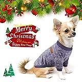 Idepet Haustier Katze Hund Pullover, Warme Hund Pullover Cat Kleidung, Fleece Haustier Mantel für Welpen Klein Mittel Groß Hund (L, Marine)