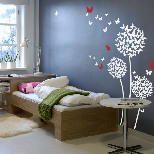 beautiful-butterflies-wall-decal-flowers-quotes-dandelions-in-the-wind-wall-art-sticker-vinyl-living