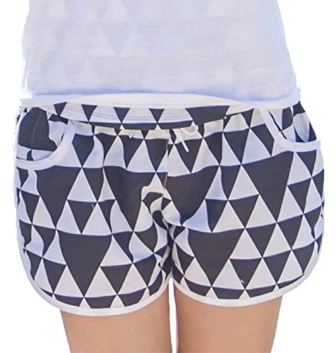 Fancyland Pantalon de Plage Imprimé Fleurs Short Piscine Désinvolt et Sportif Maillot De Bain Grande Taille Eté Pour Femme Triangle