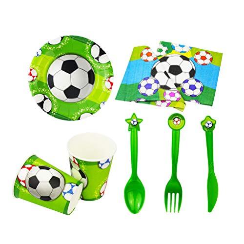 all Einweggeburtstagsfeier Dekoration Requisiten Fußball Thema Party Surpplies 11 0 Stück ()