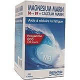 Magnésium Marin B6 B9 et Calcium - 200 gélules