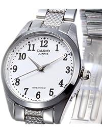 CASIO 19123 LTP-1274D-7B - Reloj Señora cuarzo brazalete metálico dial blanco