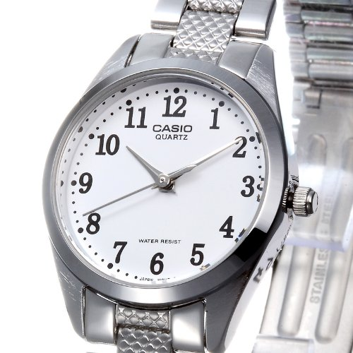 5cca933a4a44 CASIO 19123 LTP-1274D-7B – Reloj Señora cuarzo brazalete metálico dial  blanco
