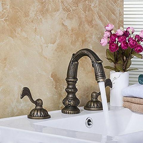 Ohcde Dheark Europäische Bau & Immobilien Deck Montiert Messing Antik 3 Stück Badewanne Dusche Waschtisch Armatur Wasserhahn Tippen