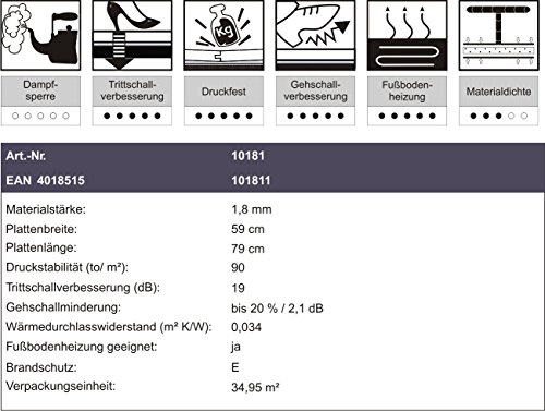 Vinyl Trittschalldämmung VINOBOARD AKUSTIK Für VinylLVT - Vinyl klickböden