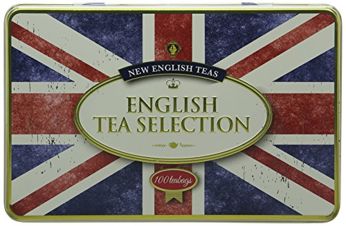 New English Teas Union Jack English Tea Bag Gift Tin (Total 100)