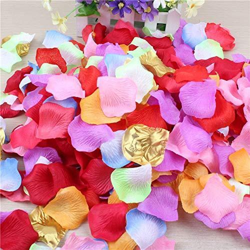 HibiscusElla Forniture di nozze petali di simulazione Petali di Rosa finti Flower Girl Toss Petali artificiali di petali…