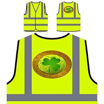 Retro Grunge irisches Irland Geschenk Personalisierte High Visibility Gelbe Sicherheitsjacke Weste f654v