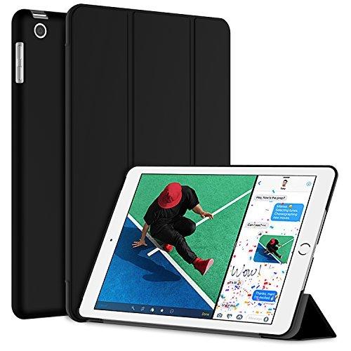 JETech Hülle für Apple Neu iPad 2018/2017 9,7, Licht und Dünn Intelligent Schutzhülle mit Ständer Funktion und Auto Einschlafen/Aufwachen, Schwarz