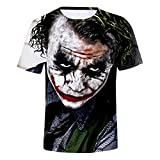 CTOOO 2018 T Shirt Maglietta Stampa 3D Joker Uomo
