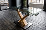 KAWOLA Esstisch Gino Glastisch 160-240cm x 90cm ausziehbar