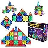Desire Deluxe Set Tessere magnetiche - Gioco Educativo per Bambini e Bambine - età 3 4 5 6 7 Anni - Impara con Le Costruzioni - 47 pz