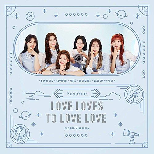 Favorite, Love loves to Love Love (zweiter Mini Album) CD + Booklet + 2photocards