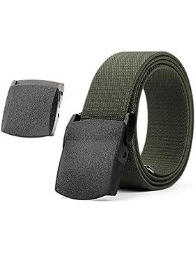 Nueva llegada elástica elástico cinturón para hombres transpirable deportes al aire libre cinturón, jasgood 3,8...