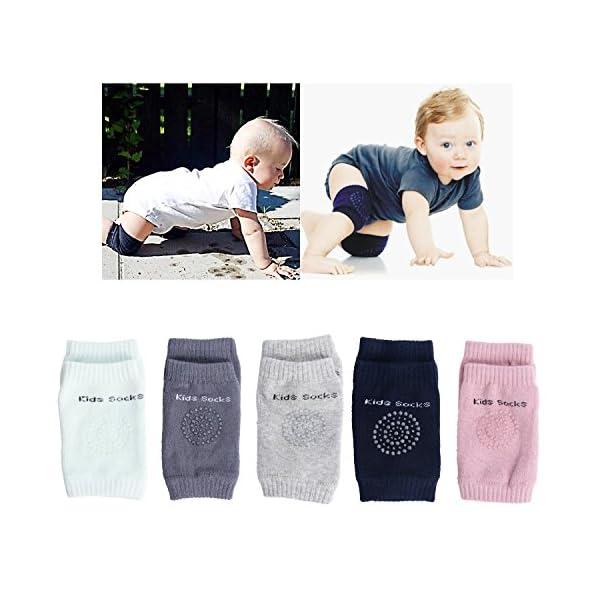 Cojín de codo antideslizante para rodillas, protector de seguridad para bebés y bebés azul verde Talla:Normal 1