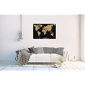 Grupo Erik Editores Poster Mapa Mundo Es Politico Metalizado – Deco