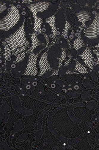 Roman Originals - Robe en Dentelle Pailletée Patineuse - Noir Noir