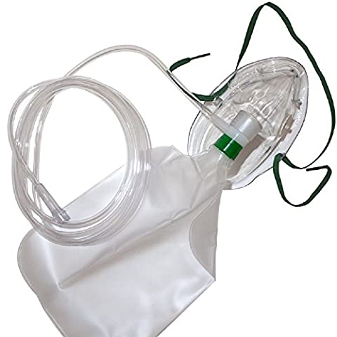 Hudson Adult Nonrebreathing Mask With Safety Vent 7 Foot Oxygen Tubing - Model (Appliance Prodotti)