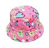 Amcool Unisex Kleinkind Kinder Baby Jungen Mädchen Blumenmuster Eimer Hüte Sun Cap (Pink)