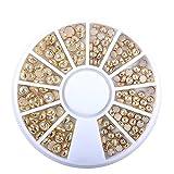 Nail Art Perlen Ornament Dekor Schmuck Rad Platte 1PC