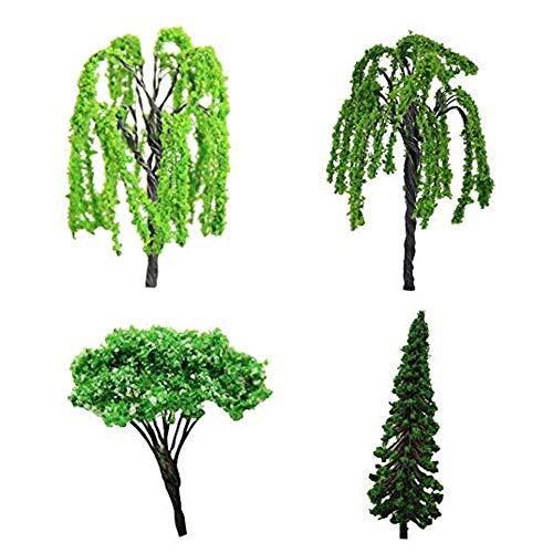Garten-Statue Mini-Baum-Fee Gartenzubehör Miniatur-Schmuck DIY Dekoration Haus 4 Stück