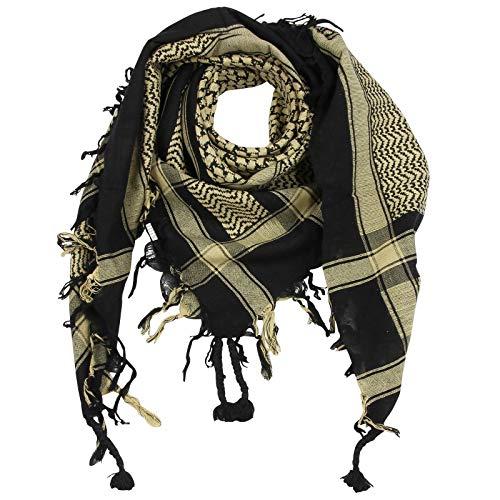 Superfreak Superfreak Palituch - schwarz - beige - 100x100 cm - Pali Palästinenser Arafat Tuch - 100% Baumwolle