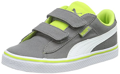 Puma Puma 1948 Vulc Cv Kids, Baskets Basses mixte enfant Gris - Grau (steel gray-white 02)