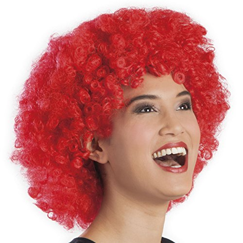 Boland 86024 Erwachsenenperücke Afro, rot, One Size