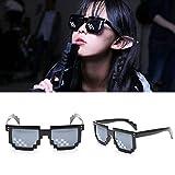 Double EUST Neuheit Sonnenbrille, Gusspower Thug life Brille 8 Bit Pixel Deal with it Sonnenbrille Unisex Schutzbrillen Eyewear Spielzeug