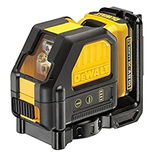DeWalt DCE088D1R-QW Cross 2Lines in–Line Laser self-levelling (Horizontal and Vertical)–Includes Battery DW 10.8V Lithium–Red
