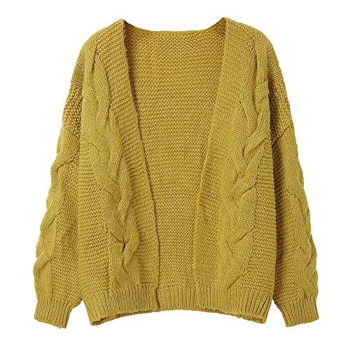 iHENGH Vorweihnachtliche Karnevalsaktion Damen Herbst Winter Bequem Lässig Mode Frauen Lässige Pullover Womens Long Sleevel Sweater Coat