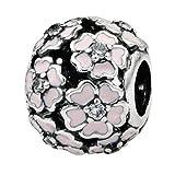 CHANGEABLE Charms Et Perles pour Femme Charmes Beads Fille Argent 925/1000 Cristal Plaqué Blanc Clair comme De l'eau Roche Primevère