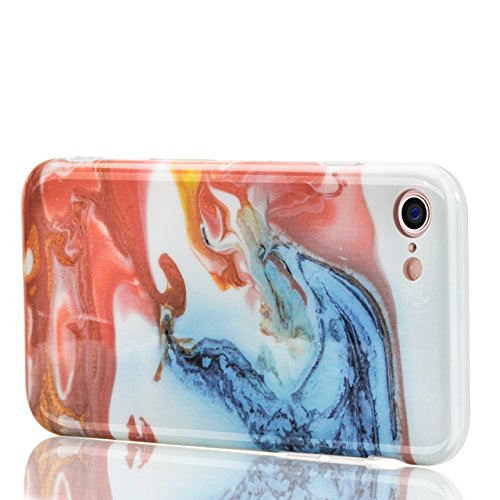 Custodia in Silicone e TPU Cover Bonice Classical Fashion Marble Case iPhone 6 Soft Morbido Case Guscio Protezione Bumper iPhone 6S in Scenario Marble Series Sottile Slim Caso Design Creativo Bianco M Creativo 06
